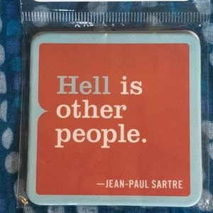 Hell Is Other People Fridge Magnet